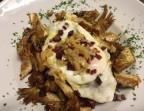 Photo Alcachofas crujientes con jamon iberico y huevo frito - A Banda Restaurante